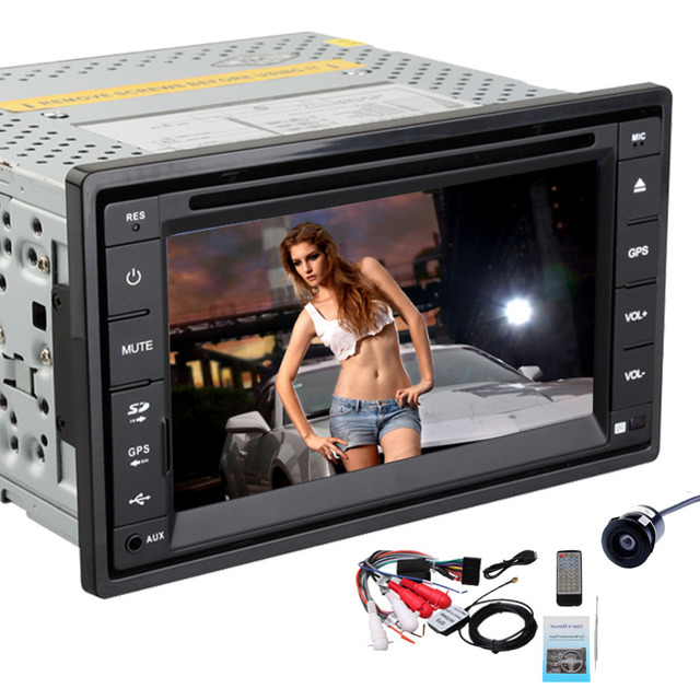 Rear Camera+6.2 Inch HD double 2 din Car Radio Unit In dash GPS Navigation Car Stereo DVD CD Video Player Bluetooth MP3 iPod PC