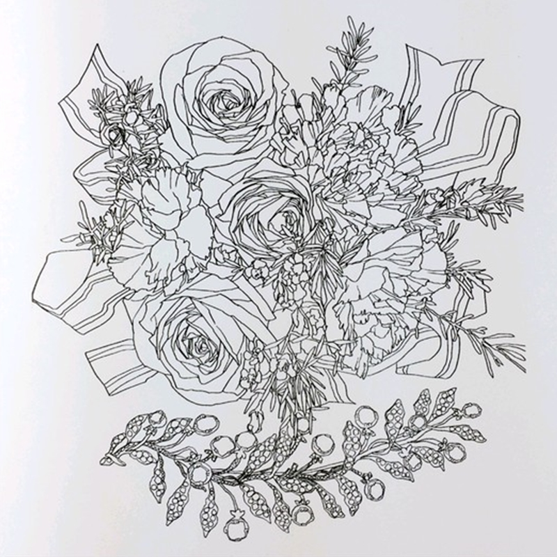 Beauty And The Beast Coloring Book For Adult Kids Antistress Art Books Mandala Secret Garden Quiet Color Drawing 2525cm 24Pages In From Office