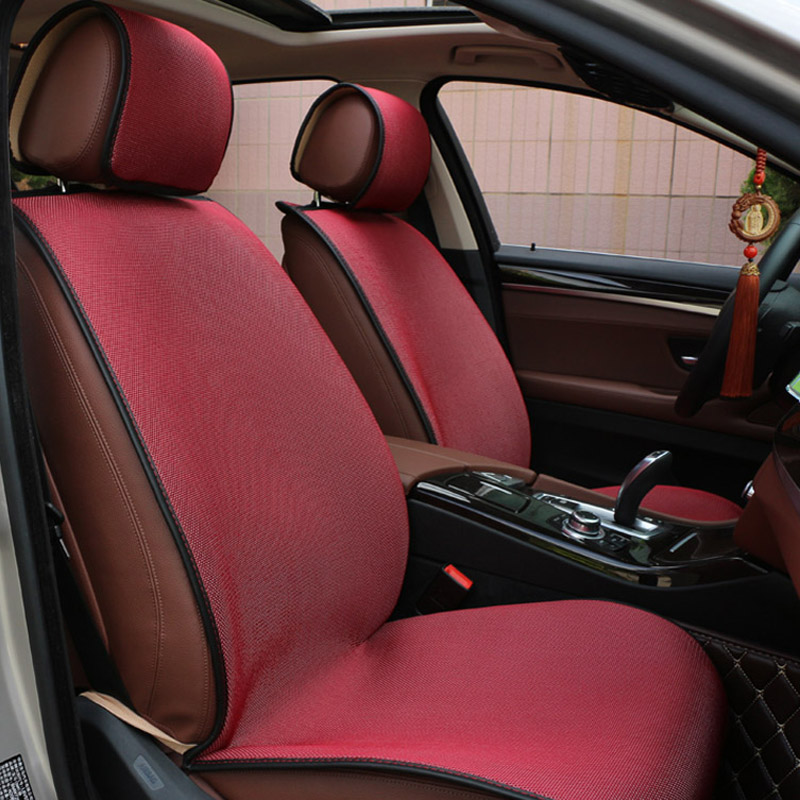 Universal Front Car Seat Cover Cushion Pad Mesh Fabric Breathable ...