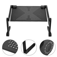 Portable 360 Degree Adjustable Laptop Notebook Table Stand Tray Lazy Foldable Aluminum Alloy Computer Desk Drop Ship(China)
