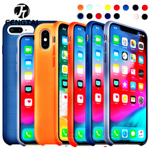 Luxury Color Silicone Case For iPhone 6plus 6splus case Apple 6 6s plus Cover Screen Protector
