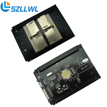 "4 SD RAID SATA Адаптеры карты SATA 2.5 ""HDD кронштейн SD SDHC SDXC для SATA 22pin преобразователя"