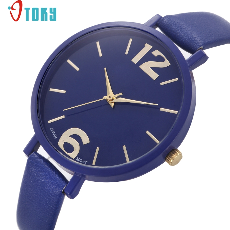 Excellent Quality OTOKY New Watch Women Casual Faux Leather Analog Quartz Watch Fashion Wristwatches 2017 Freeshipping