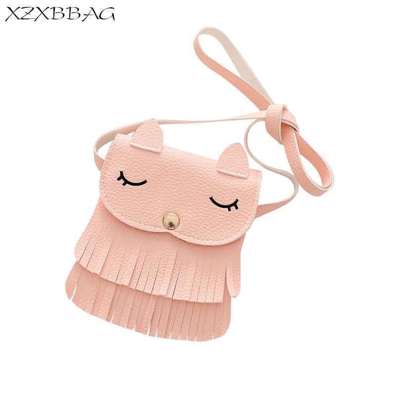 XZXBBAG Children Fashion Tassels Messenger Bags Girl Cute Fox Embroidery Pouch Kids Cros ...