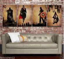 WOW--4 Superhero 2014 Modern TOP Decor ART canvas OIL Painting-No stretch