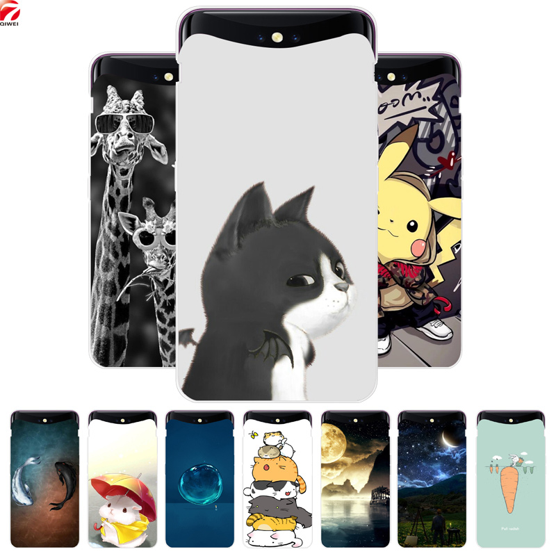for OPPO Find X Case Fashion Painting Hard Platic PC Back Cover for OPPO Find X 6.42'' Phone Shell Fundas Protective Capa FindX