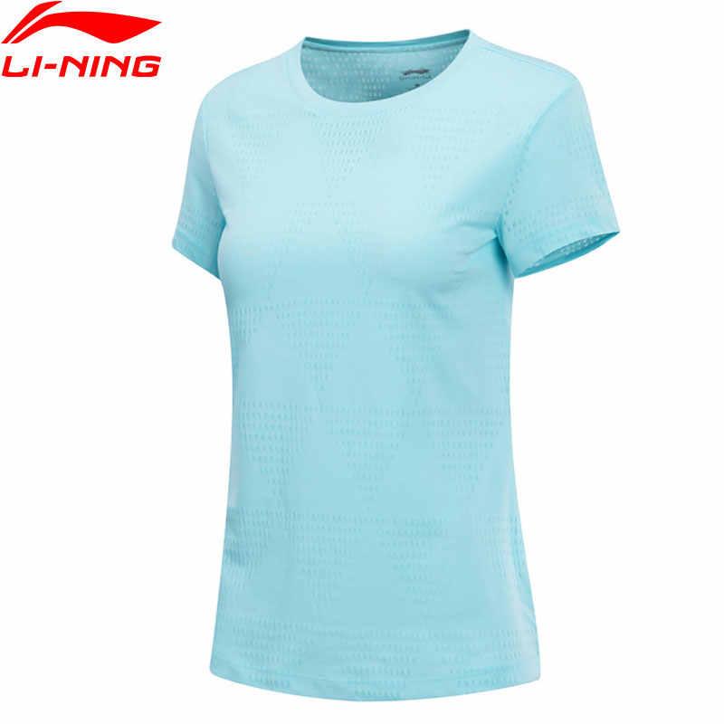 (Break Code) li-Ning Vrouwen De Trend T-shirt Slim Fit 50% Katoen 50% Polyester Voering Li Ning Sport Tee T-shirts AHSN676 WTS1439