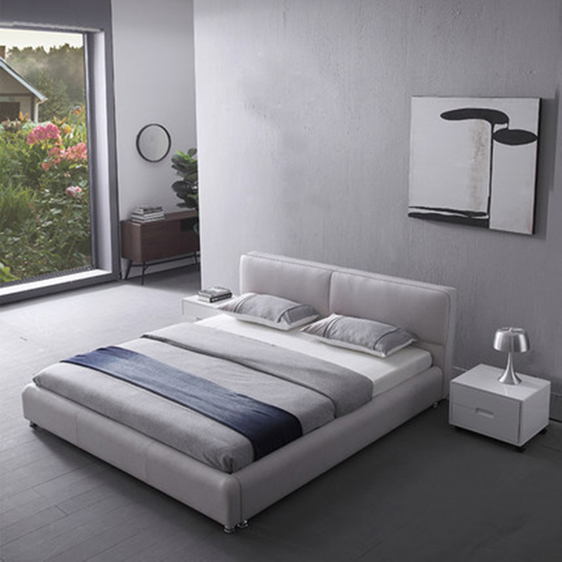 Tatami master bedroom Nordic leather leather double small ...
