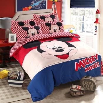 Juego de edredón para niños y adultos de Mickey Mouse, juego de cama individual de tamaño doble para decoración de dormitorio infantil, tamaño 1,2 m 1,35 m 1,5 m