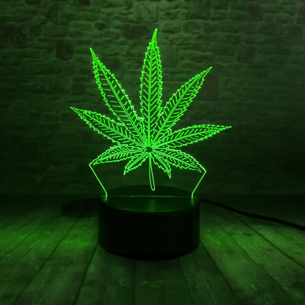 Piękna lampa LED Illusion 3D z lampką nocną w kształcie liścia - Lampki nocne - Zdjęcie 2