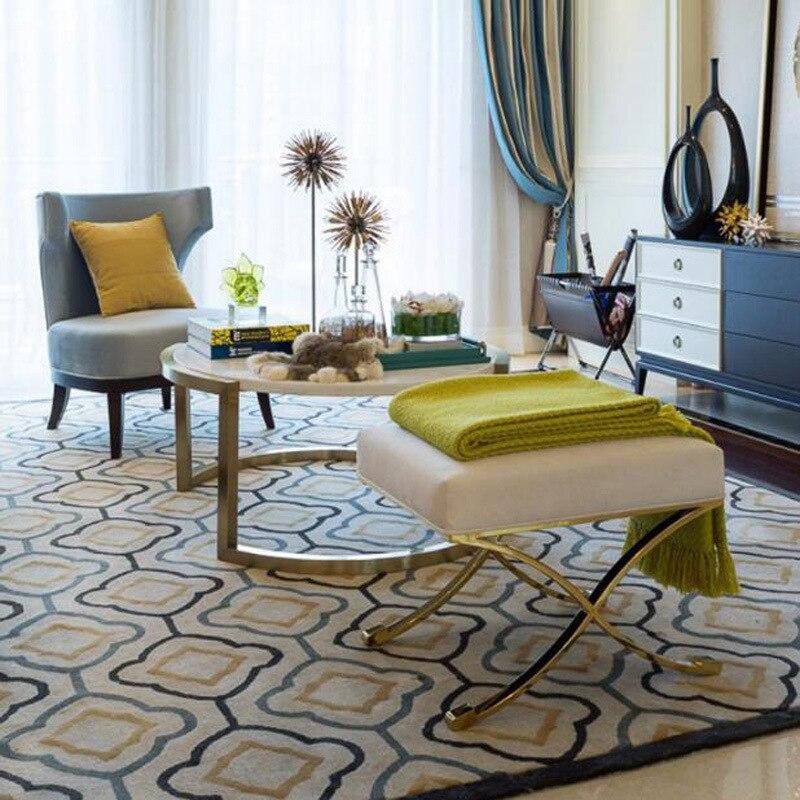 Nordic moderna área de luxo tapete crianças anti-sala de estar sofá mesa de café quarto estudo cabeceira amostra quarto artesanal casa