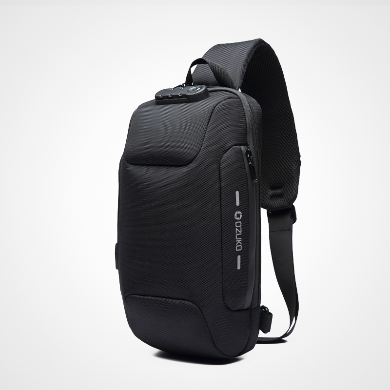 Multifunction Crossbody Bag for Men Anti-theft Shoulder Messenger Bags Waterproof