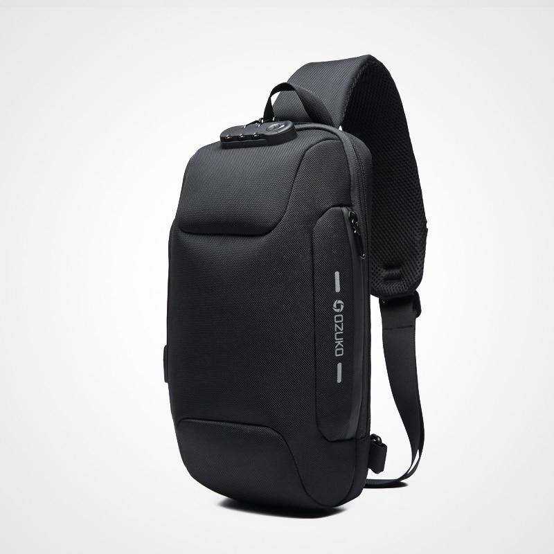 Multifunction Crossbody Bag for Men Anti-theft Shoulder Messenger Bags Waterproof