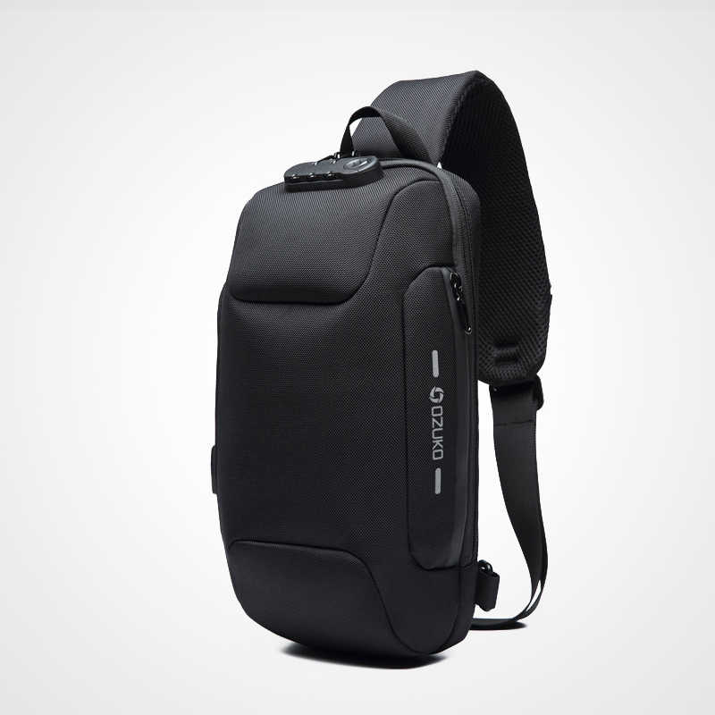 OZUKO 2019 Nova Multifuncional Saco Crossbody para Homens Anti-roubo Sacos Masculino bolsa de Ombro Mensageiro Saco de Viagem No Peito À Prova D' Água Curto pack