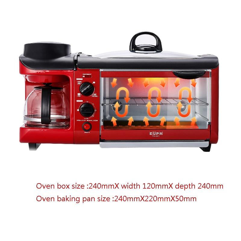 Multi-functional Breakfast Machine Toast/Cook Coffee/B/Fried Egg Bread Baking Maker Toaster tsk-2871 ariete toast