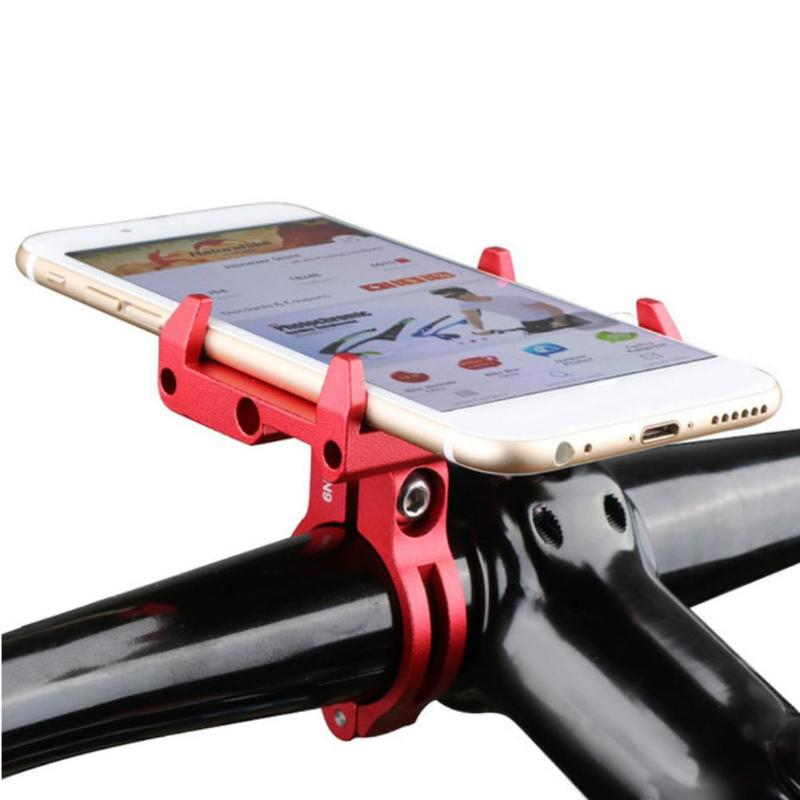 GUB Bike Bicycle Holder Handle Aluminum Bike Anti Slide Bicycle Handlebar Phone Holder Bracket for 3.5-6.2in Smartphone GPS