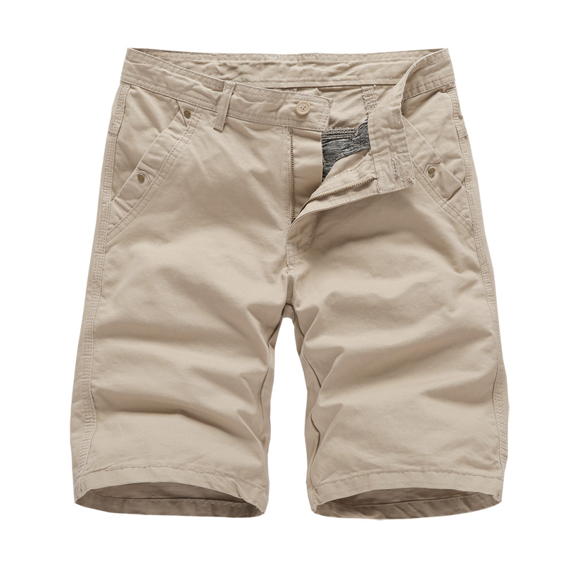Cotton Solid Cargo Shorts Men 2019 New Fashion Summer Army Military Loose Work Cargo Shorts Casual Male Beach Short Pants