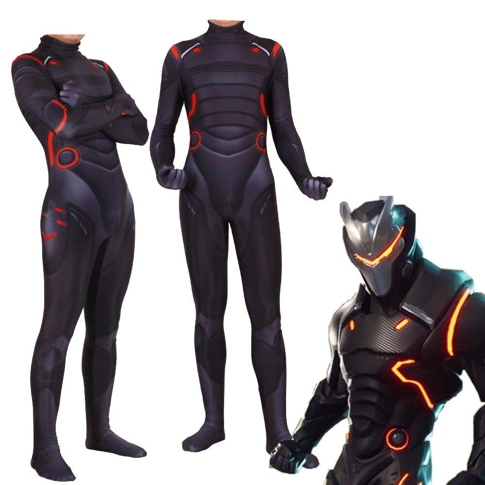 Adult Kids Game omega Cosplay Costume Omega Oblivion link Zentai Bodysuit Suit Jumpsuits Led Mask Halloween