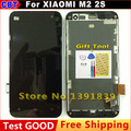 For xiaomi 2 m2 2s LCD Display + touch Screen Digitizer  For xiao mi m2s mi2s mi2 LCD Screen + frame + Tool + Free Shipping