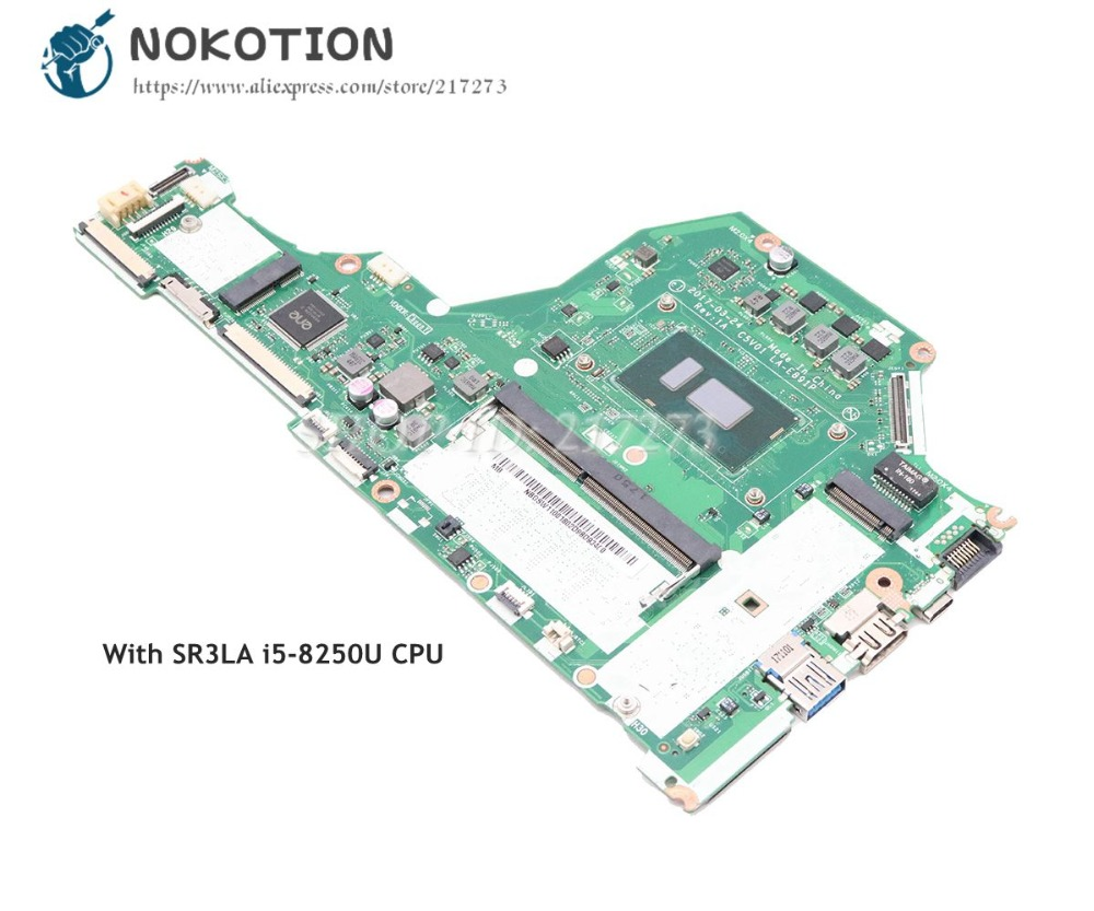 Nokotion For Acer Aspire A515 A515 51 Laptop Motherboard Sr3la I5 8250u Cpu Nbgsw11001 C5v01 La E891p Main Board Laptop Motherboard Aliexpress