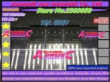 Aoweziic 100% 신규 수입 원래 TSF10N60M 10N60 10A 600V TSF12N60M 12N60 12A 600V TO 220F TSP8N60M 8A 600V TO 220 트랜지스터