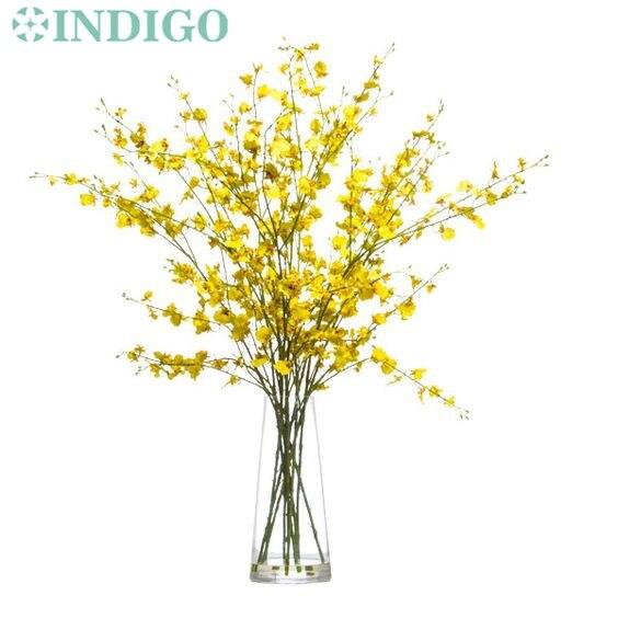 INDIGO-5 adet / grup Sarı Küçük Dans-bayan Orkide (5 Şube / - Tatiller ve Partiler Için