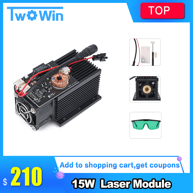 15W High Power Laser Engraving Laser Module 445 450nm Blue Laser Head for DIY CNC Laser