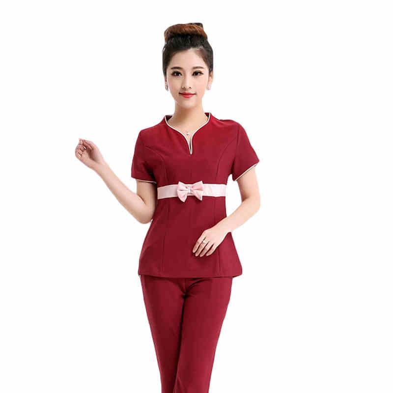 S 2xl plus size pedicure technician clothing new slim for Uniform thai spa