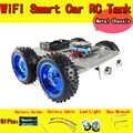 Châssis de voiture C300 WiFi RC avec carte NodeMCU ESP8266 + Kit de panneau de bouclier d'entraînement moteur par APP téléphone bricolage modèle de Robot jouet RC