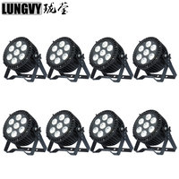 Free Shipping 8pcs/lot Waterproof 7x18w 6in1 RGBWA UV Outdoor Stage LED Par Light IP65