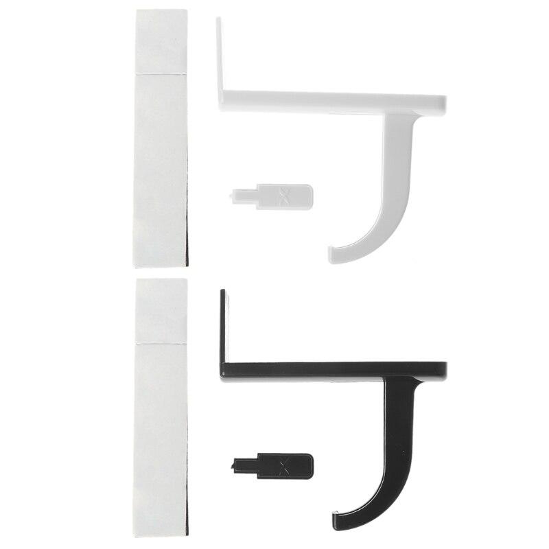 Headphone Headset Hanger Desk Wall PC Monitor Stand Headset Stick On Hook Holder