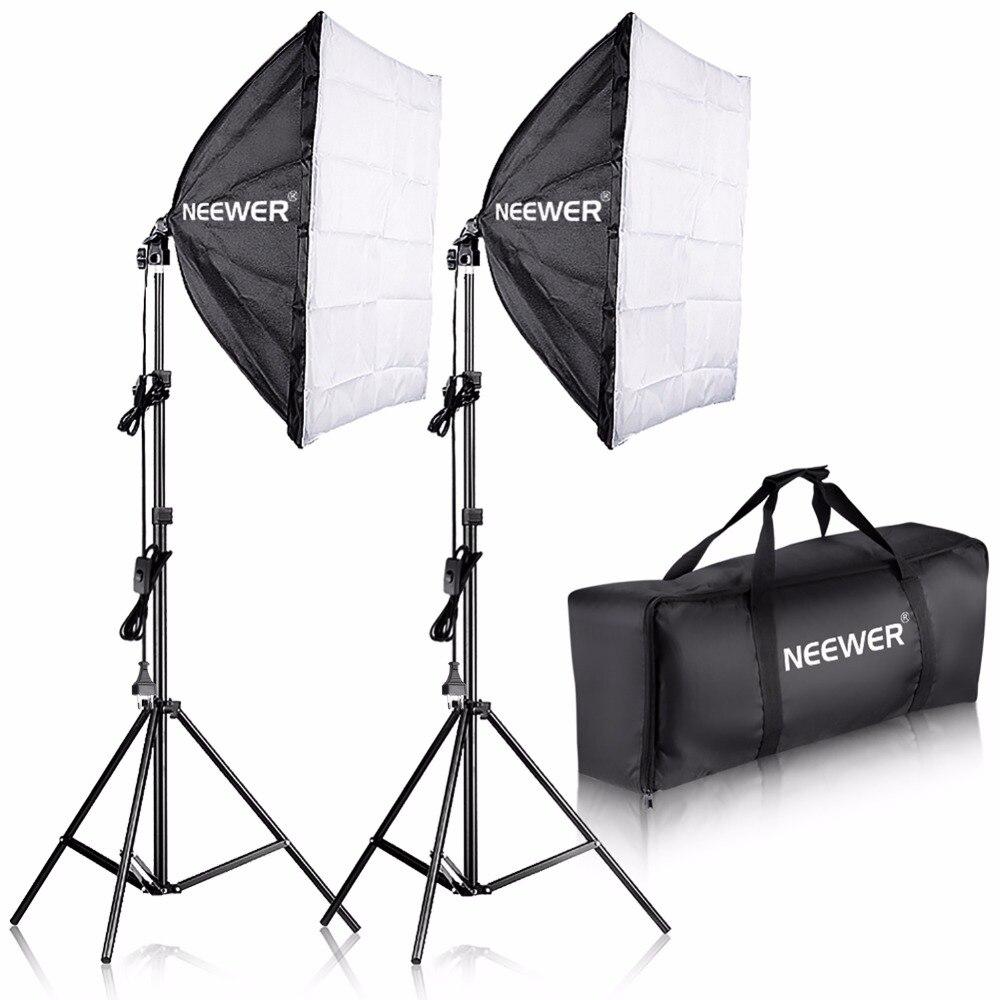 700W Photography Studio Lighting Kit Soft Box Light Stand Holder Bulb Carry Bag