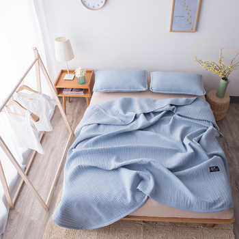 Famvotar Japanese-style 5 Solid Color Quilted Bedspread 3 Piece Vertical Pattern Summer Bedspreads Sofa Couch Blanket Throws