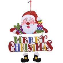 2018 New Arrival DIY Funny Santa Claus Snowman Merry Christmas Letter Christmas Tree Pendant Hanging