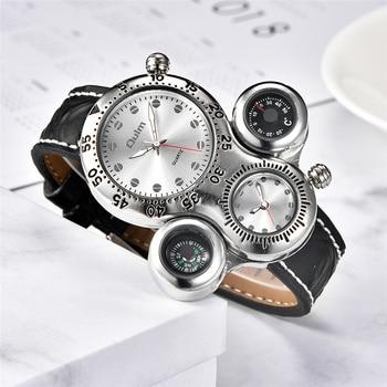 Мужские кварцевые часы с термометром и компасом