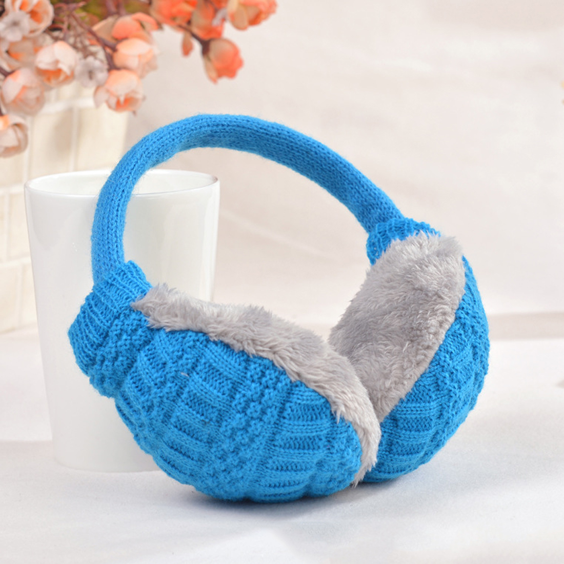 Fashion Winter Ear Cover Women Warm Knitted Earmuffs Ear Warmers Women Girls Plush Ear Muffs Earlap Warmer Headband