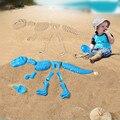 Детский Песочник  песочный  Веселый песок  АБС-пластик  набор форм  динозавр  скелеты  кости  Пляжная игрушка  динозавр  лето  Juguete для детей