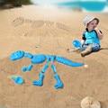 Plástico Abs Venta caliente Bebé Sandbeach Divertido Molde De Arena Conjunto Dinosaurio Esqueleto Huesos Playa de Juguete Para Niños Juguetes de Verano Para Niños