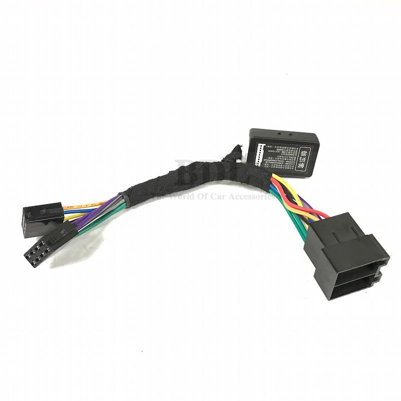 Prix pour Facile Installer Mise À Niveau RCN210 Adaptateur Câble Avec CANBUS PEUT Émulateur Décodeur pour VW Golf VI Jetta 5 6 MK5 MK6 Passat B6 Polo