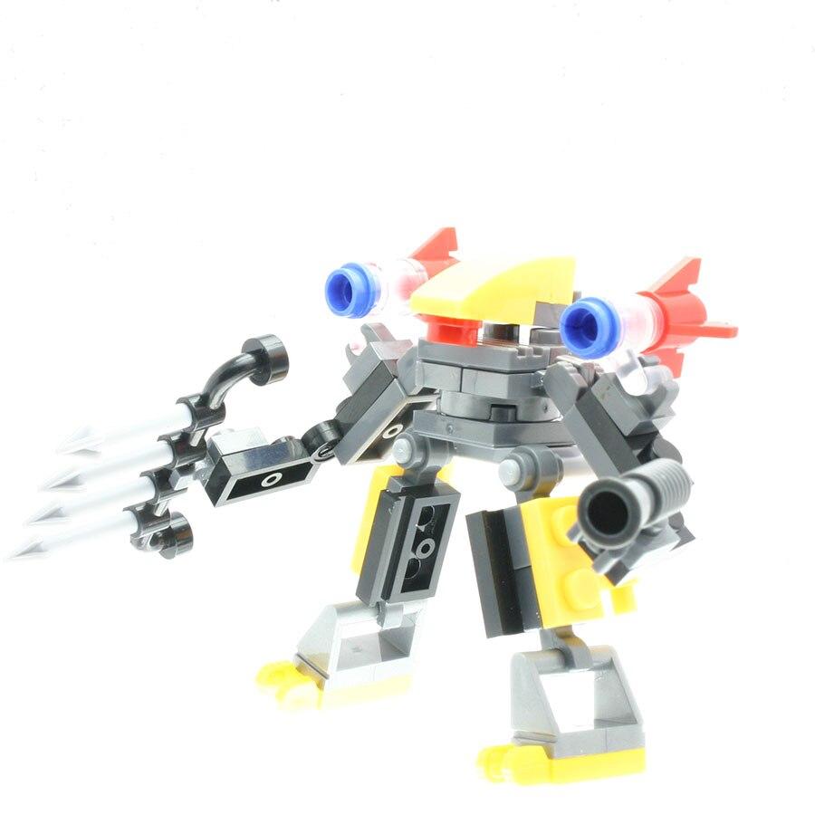 45Pcs/set Transformation Warrior Model Figures Designer Toys for Boys Model Building Sets Compatible with All Brands DT0099