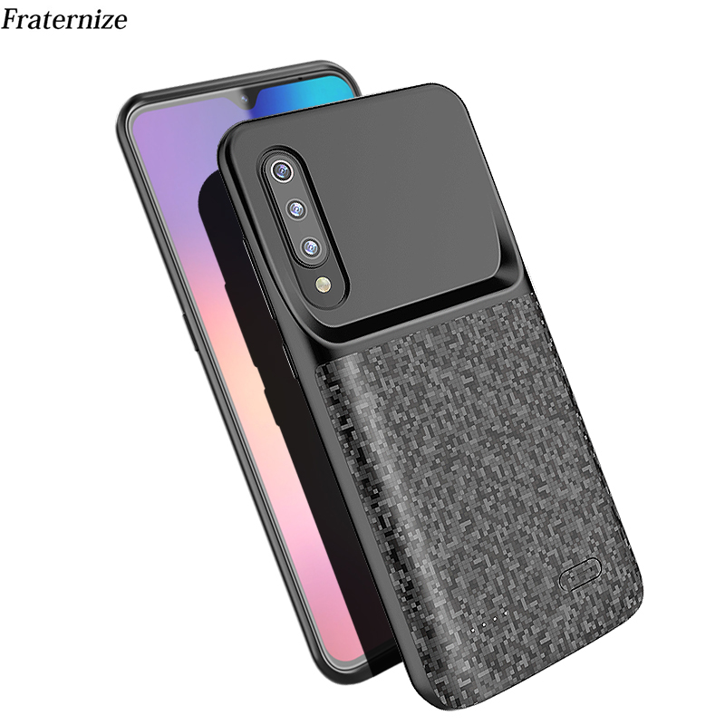 Battery case For Xiaomi Mi 9 Ultra Slim Silicone shockproof Power Bank Case ForXiaomi Mi9 Global Full battery charger case Cover-in Battery Charger Cases from Cellphones & Telecommunications