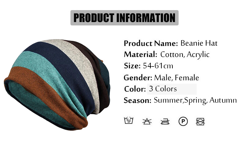 Fashion Autumn Winter Beanie for Men Women Slouchy Hat Helmet Liner ...