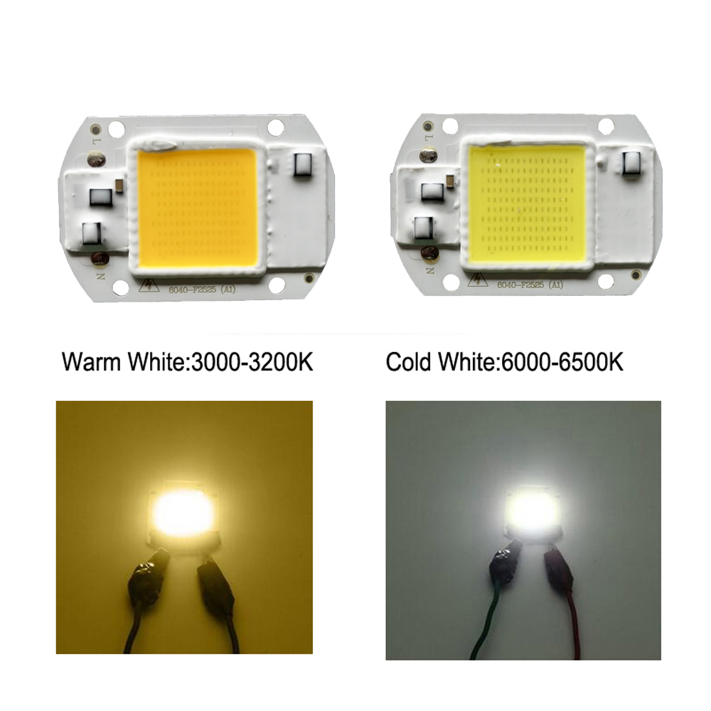 5pcs COB LED Chip 220V 20W 30W 50W Lamp Chips Input Smart IC for DIY Floodlight Spot Light in LED Chips from Lights Lighting
