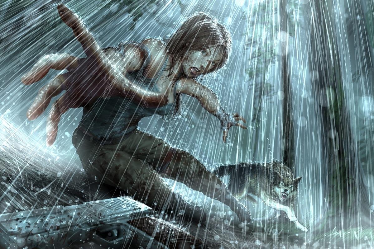 Best Deal Tomb Raider schönheit und die wolf kampf PSH48 wandkunst ...