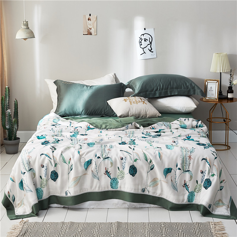Plants Home Textile Summer Quilt Blankets Soft Comforter Bedding Quilts tencel Quilted Gray Air Conditioner Summer QuiltsPlants Home Textile Summer Quilt Blankets Soft Comforter Bedding Quilts tencel Quilted Gray Air Conditioner Summer Quilts