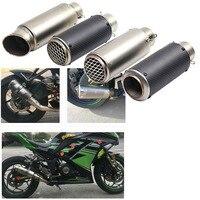 51 мм 60 мотоцикл выхлопной средняя выхлопная труба мото трубки глушитель выхлопных газов для HONDA S1000R CB400 FZ1 FZ6 ATV Dirt Bike выхлопная труба для мото...