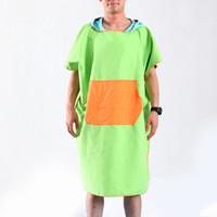 Beach Towel Microfiber Hooded Beach Dress Changing Robe Quick Dry Surf Poncho Towel for Swimming Outdoor Swimwear Women Man