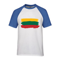 2018 Lithuania Mens Sleeves T Shirt Lithuania Print Chemise Homme Manchester Camisas Para Hombre United Jersey