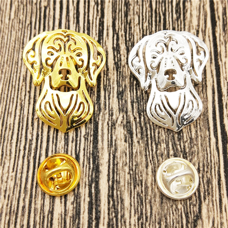 LPHZQH trendy Long Hair Dachshund dog Broches Butterfly Clasp Collar Pin Jewelery Clothing Accessories Men's Gift