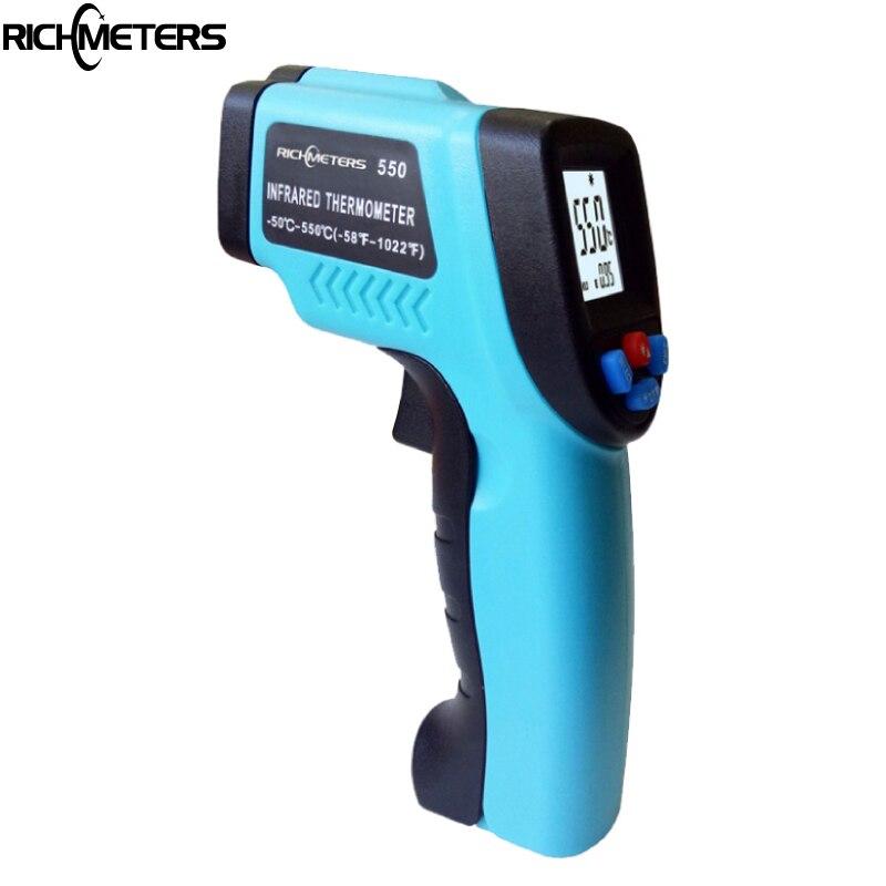 GM550-50 ~ 550 C Digital infrarot Thermometer laser Temperatur Gun Pyrometer Aquarium Hohe/Niedrige Temperatur Alarm